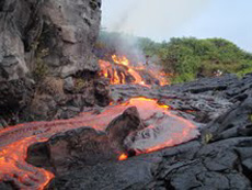 Lava flow off of East Rift Zone of the Big Island